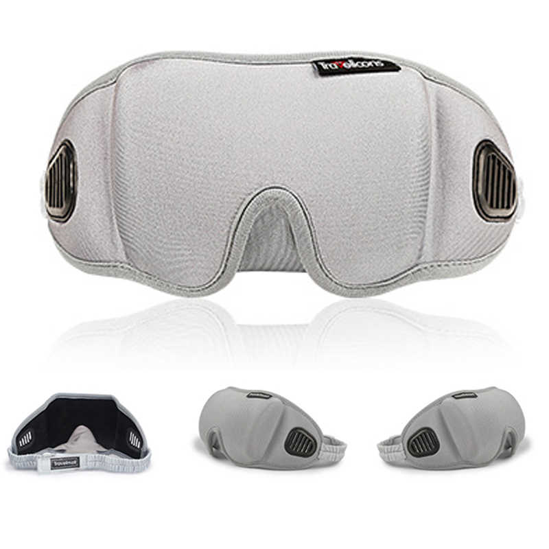 3D Penutup Mata Tidur Masker Mata Perjalanan Kantor Tidur Wanita Pria Kacamata Bernapas Lembut Adjustable Penutup Mata Hitam Penutup Mata