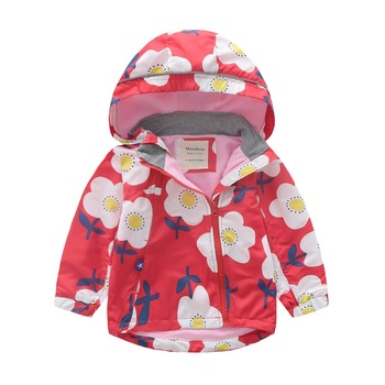 M111 Autumn Winter Flower Thick Polar Fleece Lining Jacket Hoodies Girl Keep Warm Coat kids Tops Boy Outwear child Windbreaker