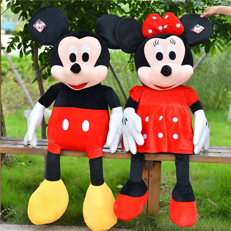 3 Colors Big Mickey Mouse Dolls Large Minnie Mouse Stuffed Plush Toy