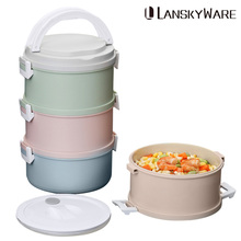 Microwave Lunch Box For Kids Japanese Plastic Children Bento Portable Leak-Proof Food Container Storage