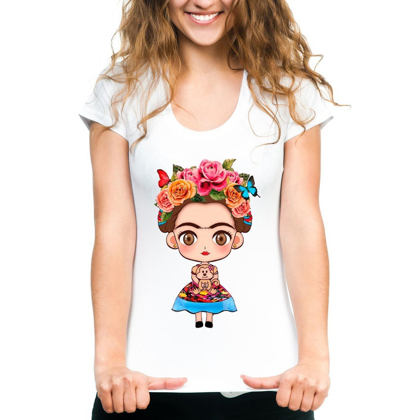 FIXSYS New Summer Women T-shirt Cute Printing Short Sleeved Shirts Harajuku Tops Fashion Casual Woman Tops