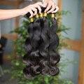 Não transformados 7A peruano virgem cabelo corpo cabelo onda tecer cabelo humano peruano tecer extensão do cabelo 4 Pcs não transformados tece