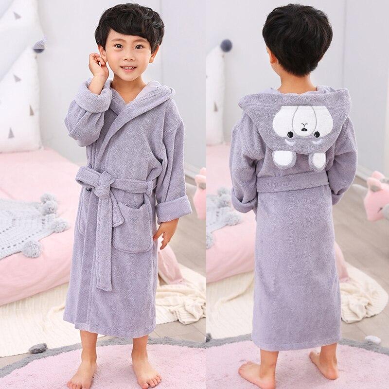 Bébé garçons enfants peignoir 100% coton dessin animé animaux à capuche serviette pyjamas vêtements bébé peignoir enfants filles vêtements Robe de bain