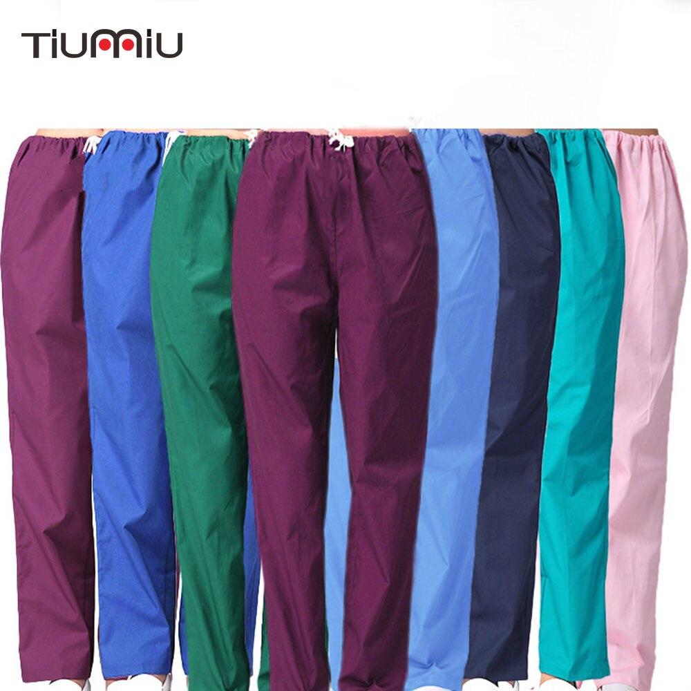 Medical Uniforms Hospital Nurse Pants 100% Cotton Elastic Maternity Pants Pregnant Women Workwear Nurse Medical Pants Trousers
