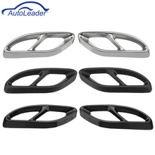 Pair Car Rear Cylinder Exhaust Pipe Cover Trim Accessories For Benz GLC/C/E  W205 W176 2015-2018