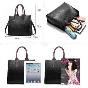 Image 2 - Знаменитые брендовые дизайнерские сумки, кожаные сумки, женские вместительные винтажные сумки с ручками, однотонные сумки тоут, женская сумка через плечо