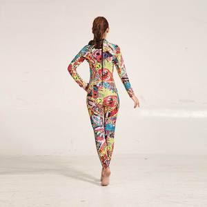 Image 4 - Hisea traje de neopreno con estampado para mujer, traje de neopreno de 3mm, costura de color, equipo de buceo, ropa de medusas de manga larga, ajustado