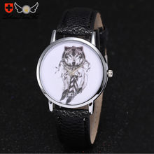 Zhoulianfa Watch Kulit Serigala Unisex Analog dengan Sederhana Watch Bulat Case Jam Tangan DROP Shipping Grosir MAY14(China)