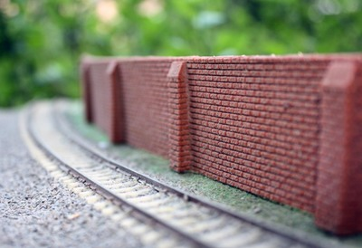 Long Flexible Masonry Slope Protection Model Train Railway Tiny Sand Table Model Trains Simulation Accessories Toy Scene