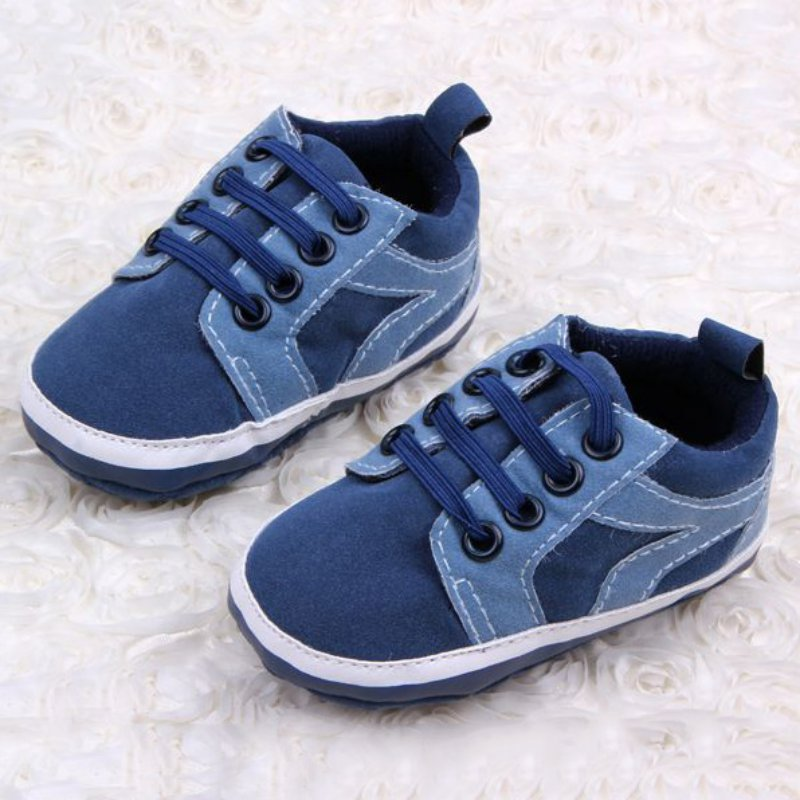 2017 New Style 0-12M Soft Sole Baby Fashion PU Material Shoes Baby Boys Girls Mixed Colors First walkers Shoe D8