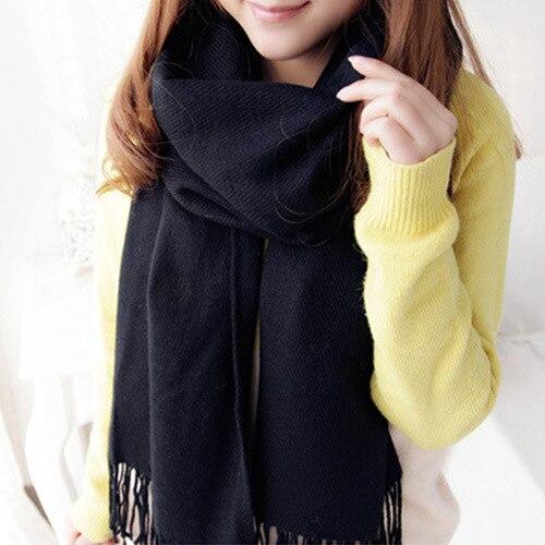 Новый Твердый Шарф Женщин bufandas mujer 2016 красный мода теплые женские шарфы зимой шарф, шаль wrap Одеяло Шарф Люксовый Бренд