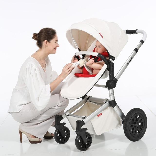 Forbaby Luxe Kinderwagen Met Reiswieg Wit Frame 2 In 1 Hoge