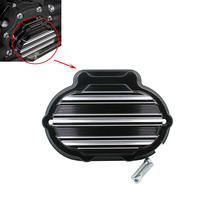 Motorcycle Transmission Side Cover Black CNC Aluminum For Harley Touring Models Softail Dyna 2014 2015 2016