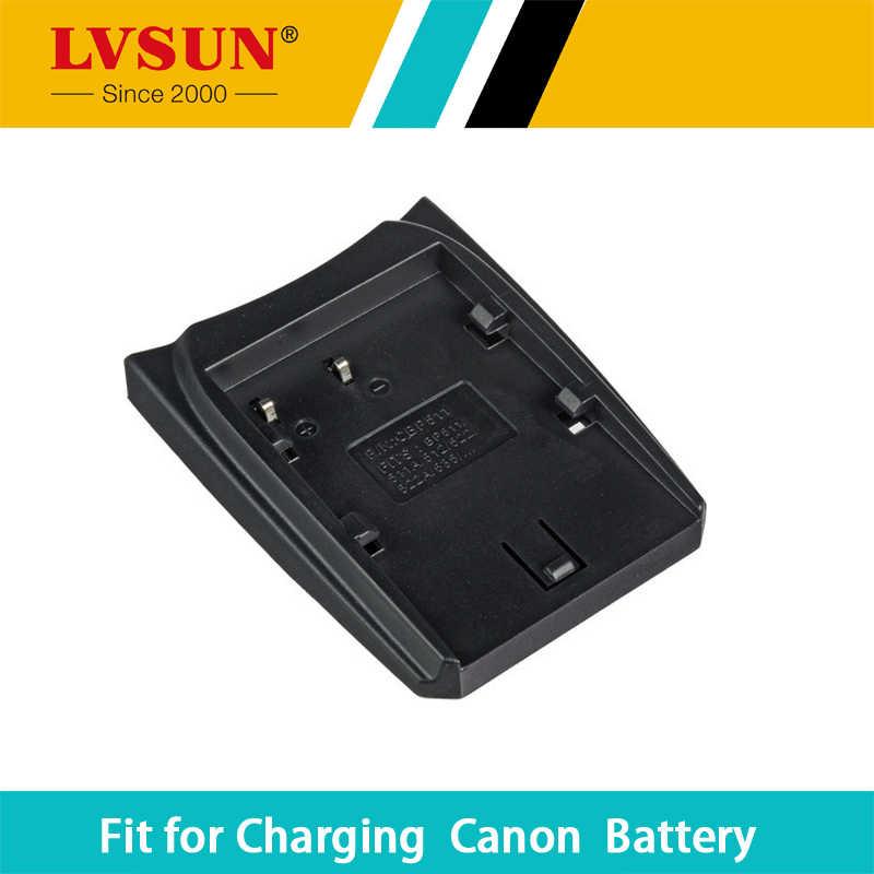 Lvsun suporte da placa de adaptador de bateria caso box para canon bp-511 bp-511a bp-512 bp-514 bp-522 bp-535 tipo placa de carregador de bateria