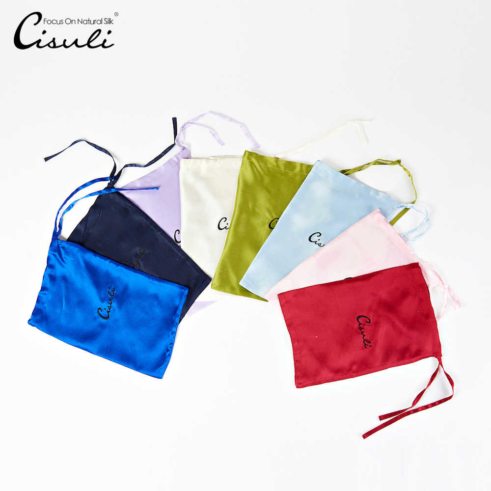 CISULI Travel Set Storage Bag 17X26cm 100% Natural Silk Storage Pack Free Shipping