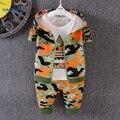 3 peças Meninos Da Criança roupas de Outono 2017 de Moda de Nova Camuflagem Esporte Treino Cair Conjunto de Roupas Infantis Meninos Casaco Com Capuz T1804