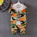 3 pieces Toddler Boys clothes Autumn 2017 New Fashion Camouflage Sport Tracksuits Fall Kids Boys Clothing Set Hooded Coat T1804