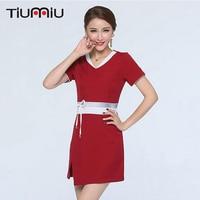 2018 Lab Dress Hospital Doctor Nurse Uniform Women Short Sleeve Medical Uniform Attire Beauty Salon SPA Fashion Workwear Uniform