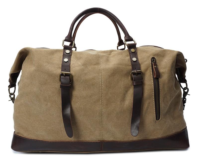 Army Green White Grey Large Big Canvas Men Travel Bags Male Shoulder Messenger Bag Handbag M2077