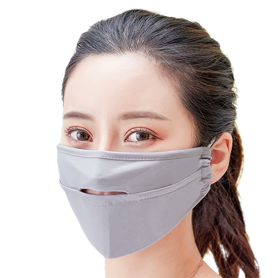 2019 New Women Men Mouth Mask Breathable Open Front UV Protection Unisex Dustproof Face Mask Facial Mouth Masks