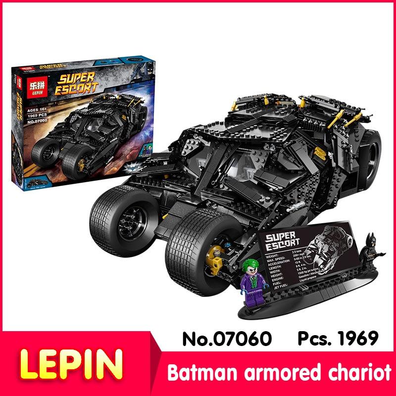ФОТО LEPIN 07060 1881Pcs with original box Batman movie series Batman armored chariot Model Building Blocks Bricks Compatible 34005