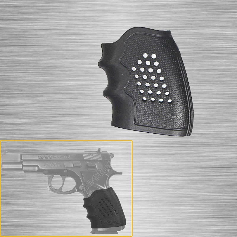 New Tactical Pistol Rubber Grip Glove Cover Sleeve Anti Slip For CZ 75/85 Grip Sleeve Anti Slip For Most Of Revolver