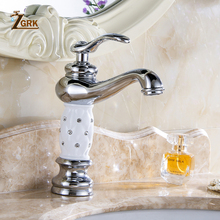 ZGRK حوض الحنفيات الذهبي الحمام بالوعة صنبور التصميم الإبداعي الكريستال سطح شنت المياه الساخنة Cold ثقب واحد خلاط الصنابير