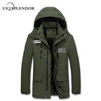 2019 New Arrival Men Parkas Winter Hooded Man Coat Warm Casual Male Jacket Thick Warm Mans Coat Waterproof Plus Size 4XL YN10376