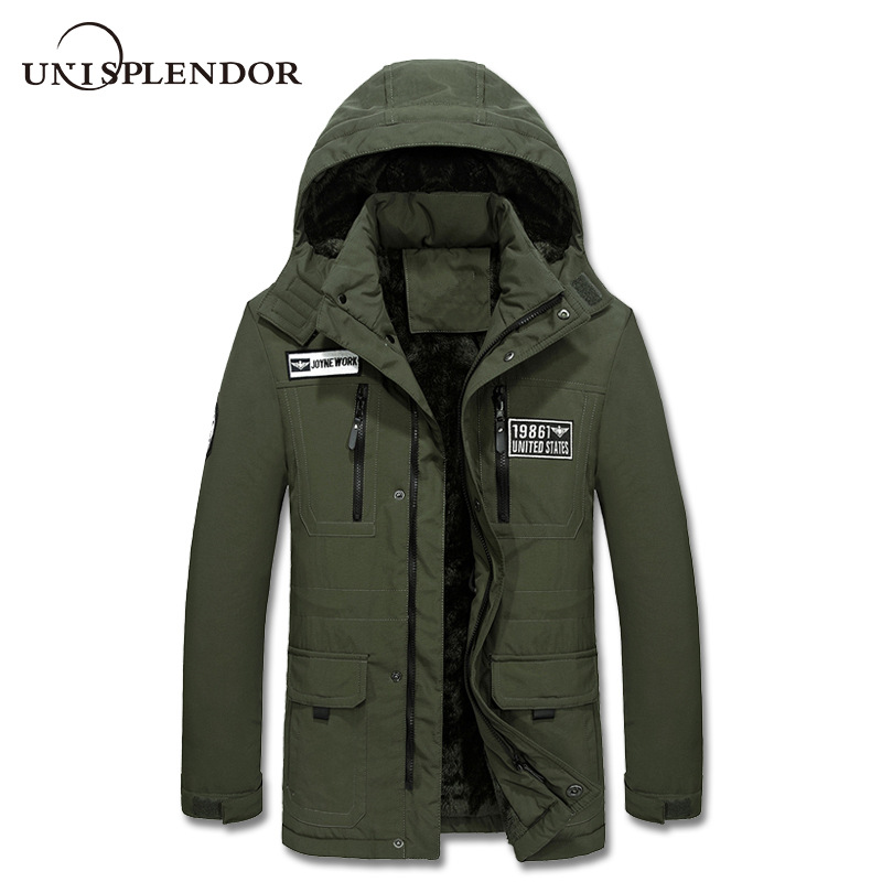 2019 New Arrival Men   Parkas   Winter Hooded Man Coat Warm Casual Male Jacket Thick Warm Mans Coat Waterproof Plus Size 4XL YN10376