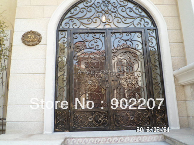 Custom Design Iron Entry Door Glass Iron Enry Door Wrought Iron Door Id17