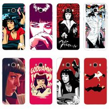 Pulp Fiction Smoke Gun Gir Penutup Silikon Lembut TPU Phone Case untuk Samsung Galaxy S6 S6edge A7 S7edge S8 S9 plus A5 J5 J7 2016(China)