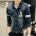 European style  slim jacket elastic men's coat pattern ffive-pointed star  denim jacket Male Jeans denim jacket#JJCC1510