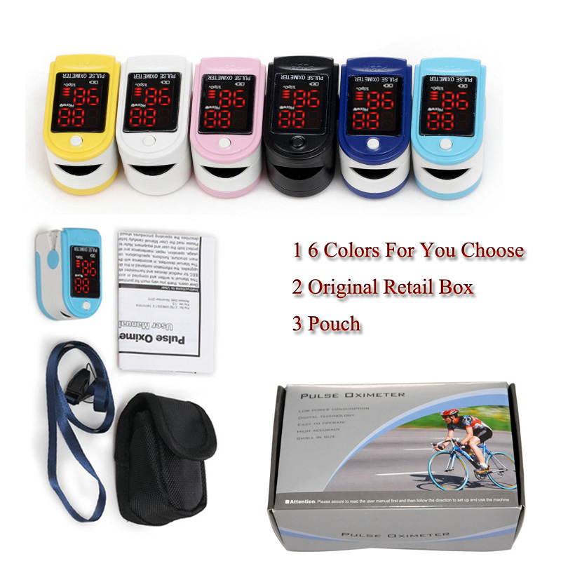 Health Care  Measure SpO2 and PR Accurately LED Fingertip Pulse Oximeter Spo2 Blood Oxygen Monitor