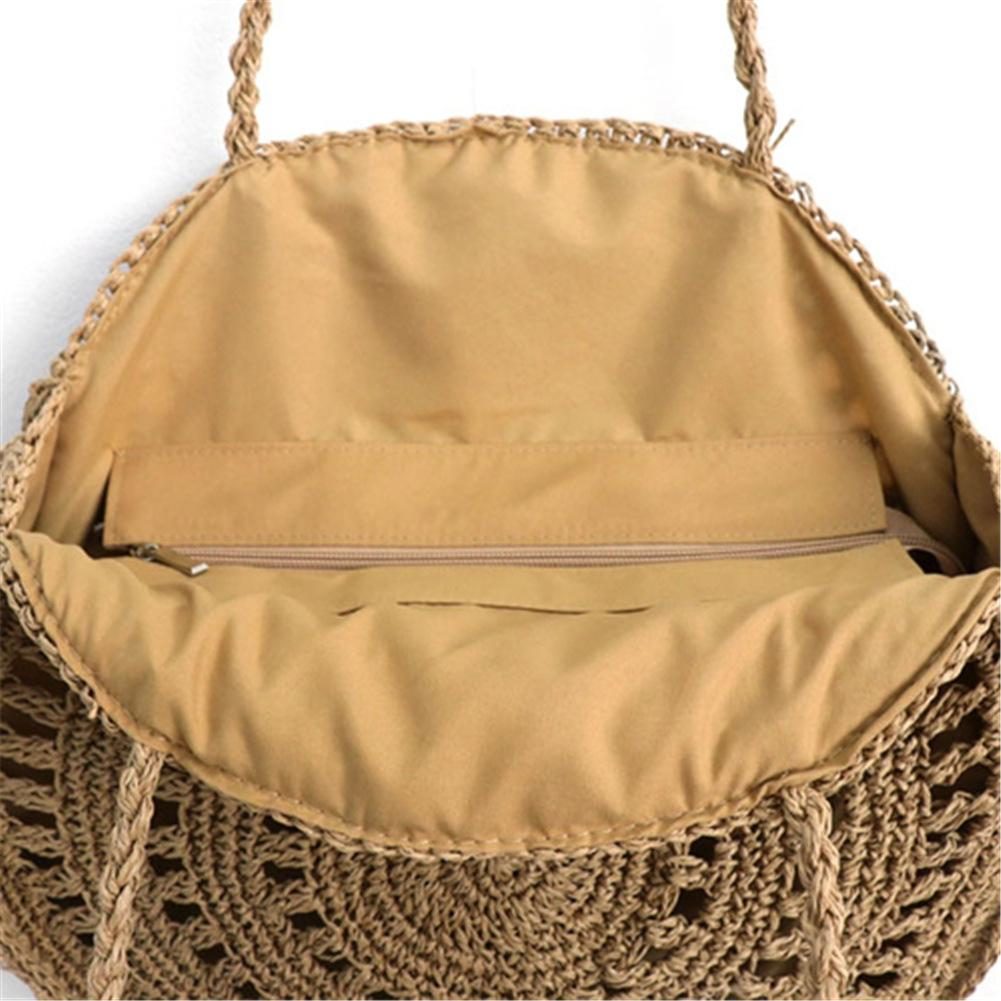 Flower Paper Rope Straw Woven Shoulder Bag Fashion Ladies Beach Summer Round Hand Bags Holiday Totes Straw Handmade Women Bag in Top Handle Bags from Luggage Bags