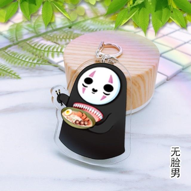 Spirited Away cartoon Acrylic keychain Himouto Umaru-chan tokyo ghoul Natsume's Book of Friends anime pendant chaveiros Llaveros