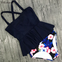 High Waist Ruffle Two Piece Plus Size Swimwear