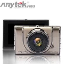 Anytek a100 + traço cam dvr carro original com ntk96650 cpu 3.0 polegada tela completa hd1080p 170 gravador de vídeo do carro