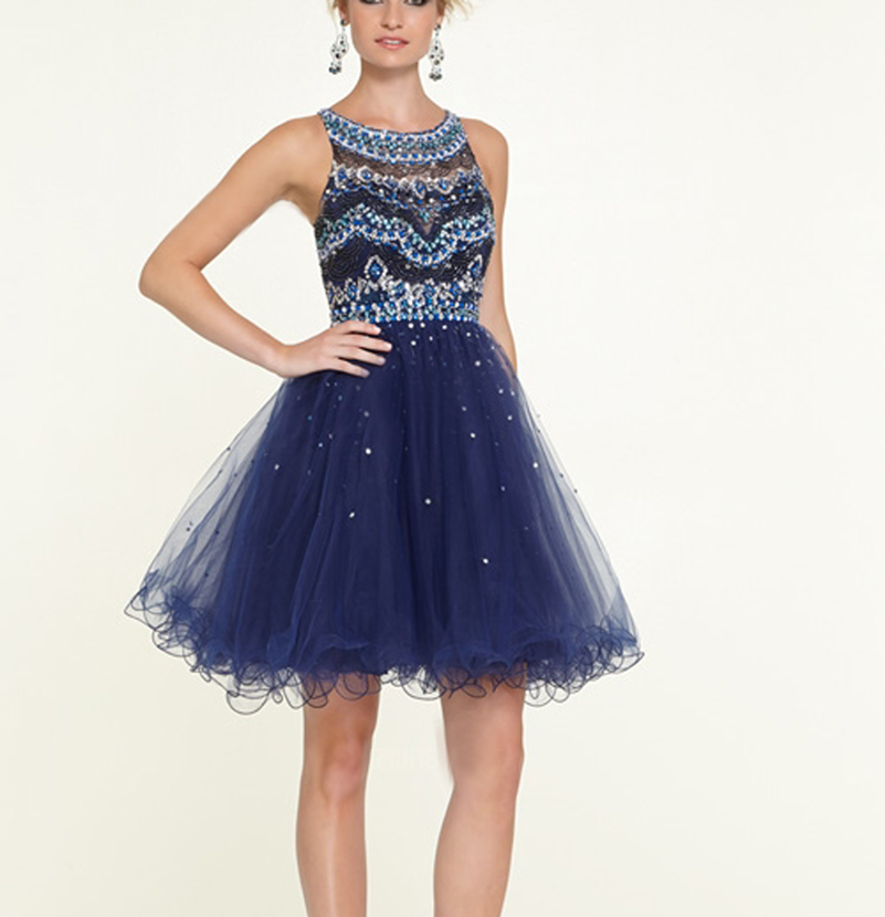 Images of Navy Blue Homecoming Dress - Klarosa