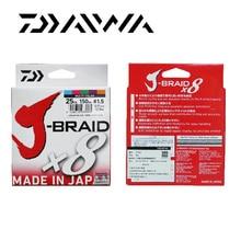 Free Shipping Daiwa J-BRAID 8A 150M 100% Original multicolor 8 wire braid line monofilament 10-60lb fishing line made in japan