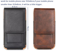Vertical Man Outdoor Belt Clip Synthetic Leather Mobile Phone Case Card Pouch For Motorola Moto Z2