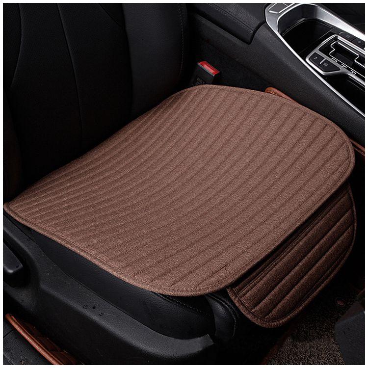 1 pcs crystal velvet striped car cushion no back to avoid tied four seasons pad 49 * 53CM