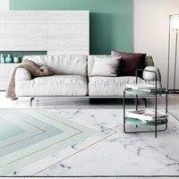 Простой стиль мраморность геометрический гостиная ковер, большие размеры озеро зеленый цвет прикроватные ковер, Nordic украшения ковер