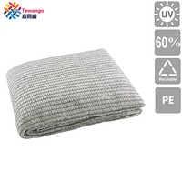 Tewango White Anti-Aging Sun Shade Net Greenhouse Patio 60% UV Block Netting Quality Polyester Shade Sails With Metal Ring