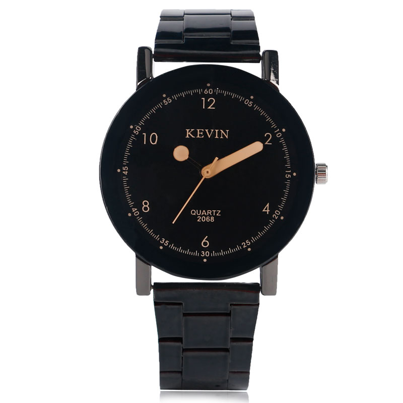 Women Men Black Sandy Beige Dial Stainless Steel Band Strap Wrist Watch Simple Ladies Special Design Analog Watch Gifts stylish 8 led blue light digit stainless steel bracelet wrist watch black 1 cr2016