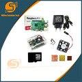 Raspberry Pi 3 комплект + акриловый чехол + источник питания + usb-кабель с переключателем + карта Micro SD 16G + радиатор с Wifi Bluetooth