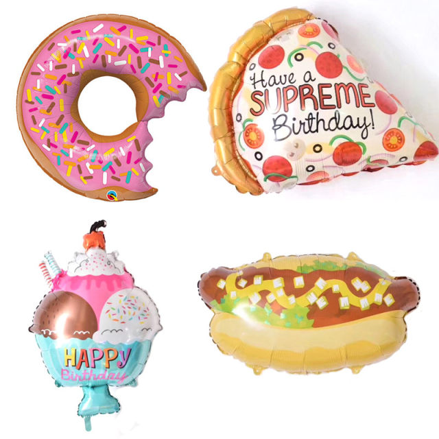 online shop 1pcs happy birthday balloon burger lollipop pizza ice