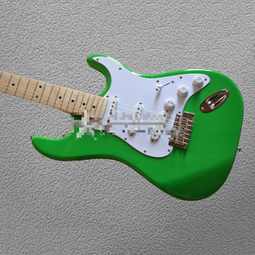 Free Shipping Sports & Entertainment Logical Top Quality Fdst-1089 Apple Color Solid Mahogany Body White Plate Maple Fretboard St Electric Guitar Stringed Instruments