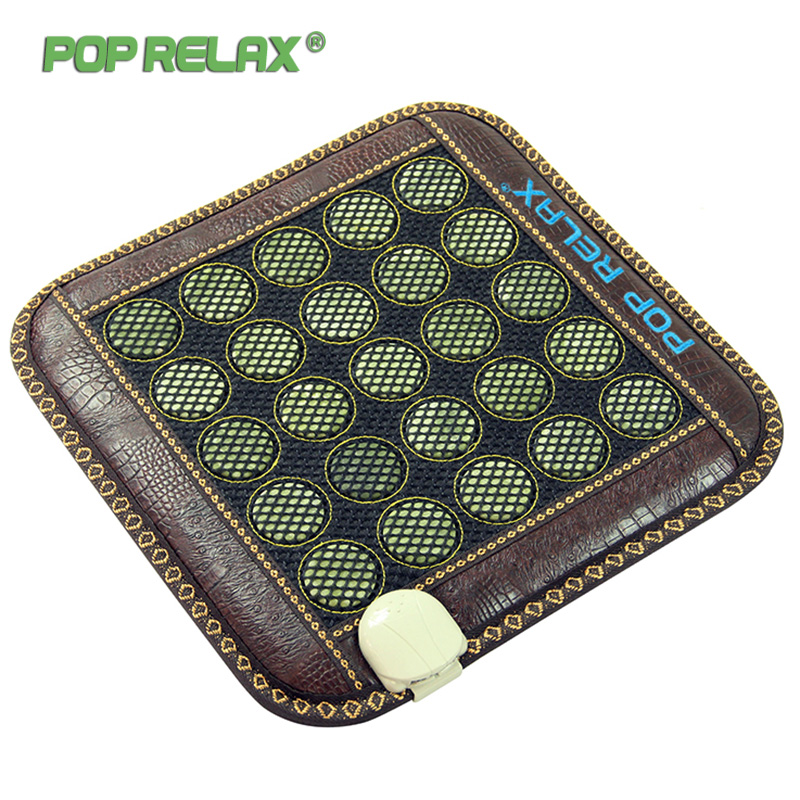 Pop Relax 110V Jade Stone Seat Mattress Electric Heating Pad Mat Far Infrared Physiotherapy Health Care Thermal Sitting Mattress 2016 electric heating massage jade stone mattress korean mattress wholesaler 1 2x1 9m
