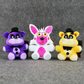 3pcs/lot Mangle FNAF Five Nights at Freddy FNAF Chica Foxy Bear Bonnie Freddy Fazbear Cupcake Plush Toy Stuffed Animal Dolls