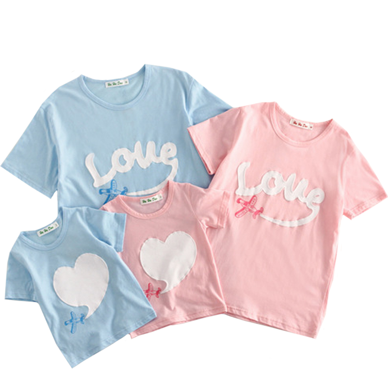 2019 Summer Short Sleeve T-shirt For Mother And Daughter Cotton Women Shirt Girls Clothes Lovely Family Matching Clothes Shirt